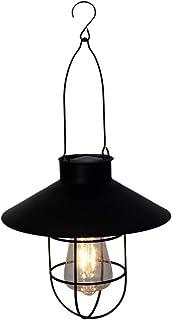 Mobestech Solar Hanging Lantern, Waterproof Vintage Solar Powered Lantern, Solar Garden Light for Yard Garden, 1Pcs