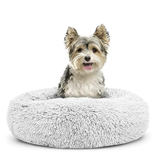 The Dog's Bed Sound Housse de rechange pour lit pour chien en forme de donut Blanc