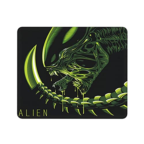 Perfect Size 9.811.8in Mouse Pad Xenomorph Alien Green Black Non-Slip Rubber Base Mouse Pads for Computers Laptop Office