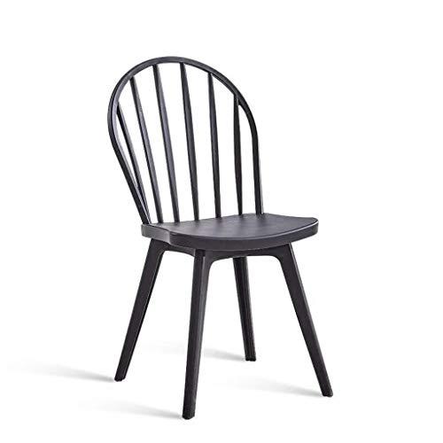 YJLGRYF Haushalt Windsor Stühle, Kunststoff Esszimmerstuhl Moderne Minimalistische Frühstück Hocker Erwachsene Rückenlehne Stuhl Kreative Mode Barhocker Weiß Schwarz, für Küche, Restaurant, Café, Bar