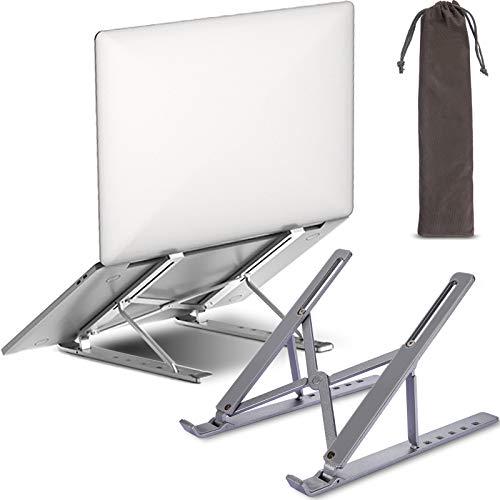 Soporte Para Computadora Portátil Plegable Con 6 ángulos Ajustables,ABS + resina de Silicona + Aleación de Aluminio,Soporte Para Computadora Portátil,Para Computadora Portátil/Teléfono Móvil/Tableta