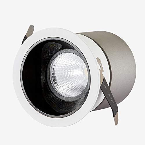 Mogicry 5/10/15/20/30W ingénierie de la Tache de Lampe COB Illumination de projecteur en Aluminium encastré Anti-Vertigo LED Panneau Lumineux ménage plafonnier Spectacle Panneau de Plafond lumière
