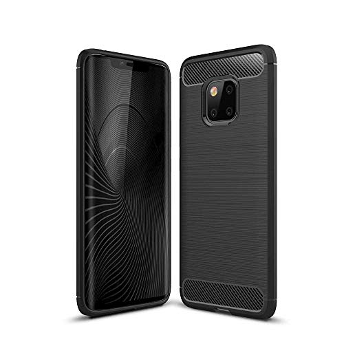 CoverKingz Handyhülle für Huawei Mate 20 Pro - Silikon Handy Hülle Mate 20 Pro - Soft Hülle Carbon Farben schwarz
