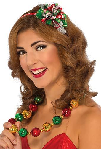 Rubie's Women's Clausplay Christmas Headband, Multi-Colored, One Size