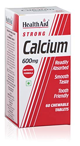 HealthAid Calcium 600mg - Chewable - 60 Vegetarian Tablets