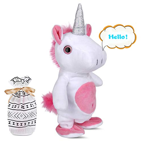 Interactive Toys Moving and Talking Unicorn Toys Repeats What You Say Ideal for...