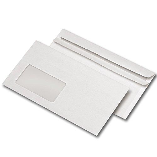 Preisvergleich Produktbild 1000 Briefumschläge DIN LANG mit Fenster,  selbstklebend (10,  DIN lang mit Fenster)