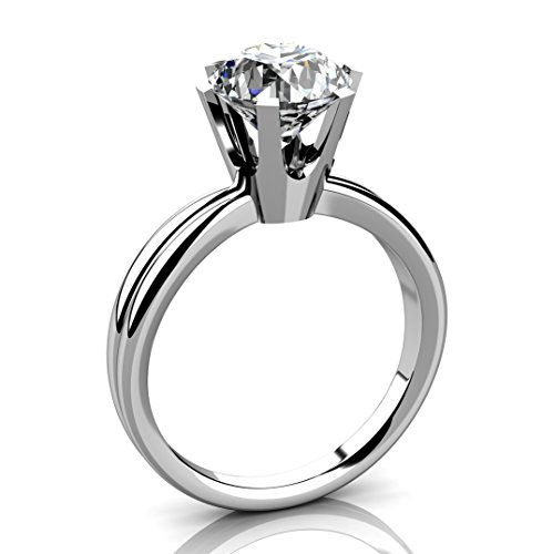 5JOYAS Alucinante Anillo Solitario En Oro 18kt Y Diamante G-VS1 con Certificado GIA.(Talla 7 a 27)