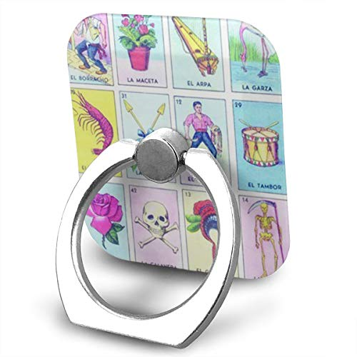 Loteria Phone Finger Ring 360 Degree Rotation Foldable Set Compatible with Most of Smartphones Tablet and Case Sold