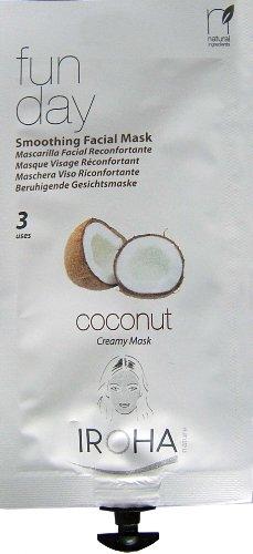 Iroha - Fun Day - Masque visage crème Coconut - 25 ml - Lot de 3