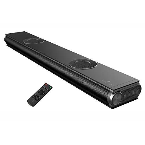 [RATOM] サウンドバー テレビ スピーカー ホームシアター 120W・2.2ch・重低音強化型