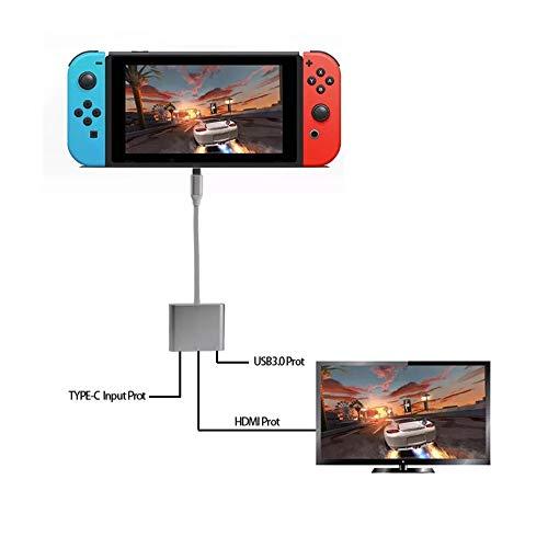 Nintendo Switch Adaptador Portátil De Usb / Tipo C a Hdmi