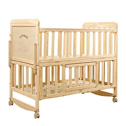 Why Choose XJJUN Rocking Crib ,Double Layer Universal Wheel Brown Mat Stable Wood Storage Layer, 3...