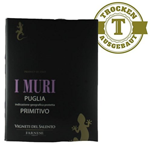 Rotwein Italien Primitivo I Muri Bag in Box trocken (1x5L)