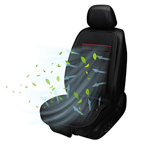 Sitzauflage Kühlung Auto Sitzheizung 2 in1, Sitzauflage Belüftet mit 3 Stufen Regelbare, Kabellos Schalter, Anti-Rutsch, Thermostat und Überspannungsschutz