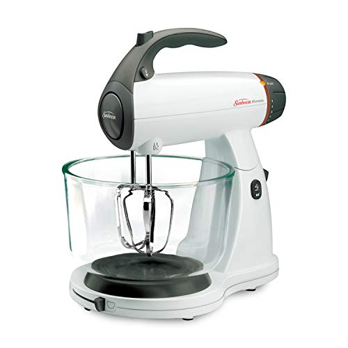 Sunbeam MixMaster 350 Watt, White | Soft-Start Technology Stand Mixer 5.5' Teal Crystal Glass