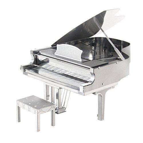 Metal Earth MMS080, Grand Piano, Konstruktionsspielzeug lasergeschnittener 3D-Konstruktionsbausatz, 2 Metallplatinen, ab 14 Jahren