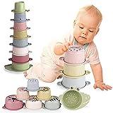 Cubos Apilables Bebés 6 Meses +,Juguete para Bebé 8 PCS,Juguete de Taza Apilable, Juguetes Playa Bebes,Juguetes Bebe Educativos para Niños y Niñas