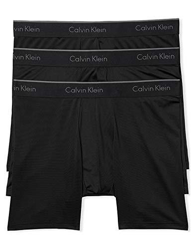 Calvin Klein Men's Microfiber Stretch Multipack Boxer Briefs, Black, Small