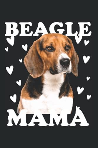 Beagle Mama Mom zum Muttertag für Mutter Hundemama Mom: DIN A5 Kariert 120 Seiten / 60 Blätter Notizbuch Notizheft Notiz-Block Beagle Hunde Motive für Hundeliebhaber
