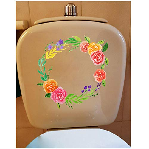 Annqing 3 stuks verse slingers kinderkamer decoratie toilet set sticker plantenpatroon woonkamer decor 23 x 24 cm
