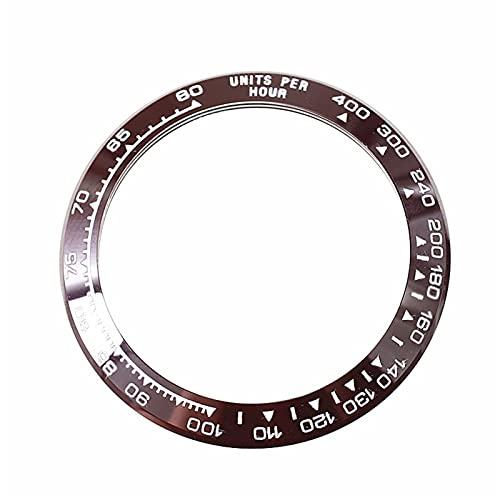 WQAZ Bisel de Reloj 38. 5MM Reloj de cerámica Reloj de Bisel con Cara Diámetro Interior de 30.5 mm Escala Adecuada para 116500-116520 Accesorios de reemplazo de Reloj Resistencia a Altas