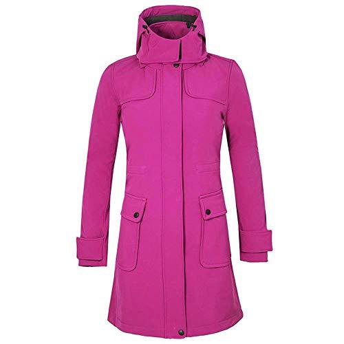 Starry sky Damesjas, medium en lange sectie, sport en vrije tijd, zachte shell afneembare cap ontwerp, winter waterdicht warm ski-jack winddicht jas