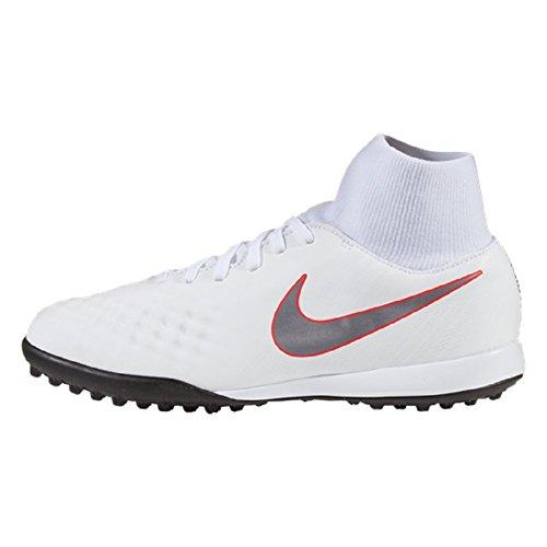 Nike JR Magista ObraX 2 Academy DF TF (White/Light Crimson) (3.5Y)