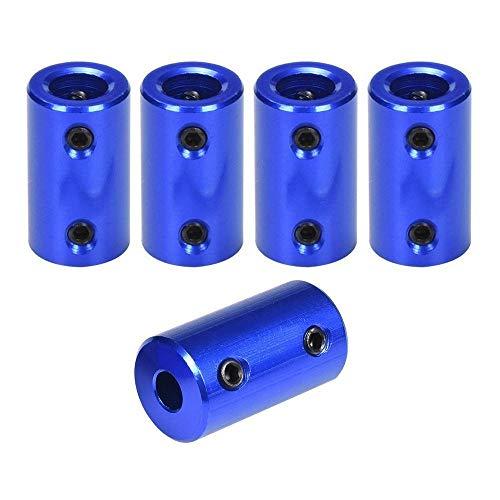 ICQUANZX 5 Stücke 3D Drucker Koppler, FYSETC 5mm bis 8mm Nema 17 Motorwelle Flexible Kupplungen Aluminiumlegierung Stecker für CNC Maschine CR-10 10 S S4 Ender 3 Prusa Duplicator i3 - Blau