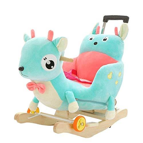 WCJ Babyschommel Stoel baby Rocking Chair Swings & Solid Wood Rocking Horse, 60 * 60 * 38cm, 1-4 jaar oud