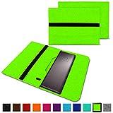 NAUC Notebook Tasche Hülle für Lenovo Yoga C930 900 900 S 910 510 520 530 710 720 730 13,3-14 Zoll Filz Sleeve Schutzhülle aus Filz mit Innentaschen, Farben:Grün