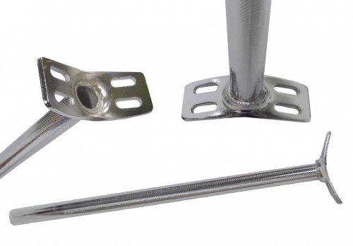 Sattelstütze für Einrad 4-Loch-Version chrom 22.2 x 400 mm, Lochabstand 75 mm