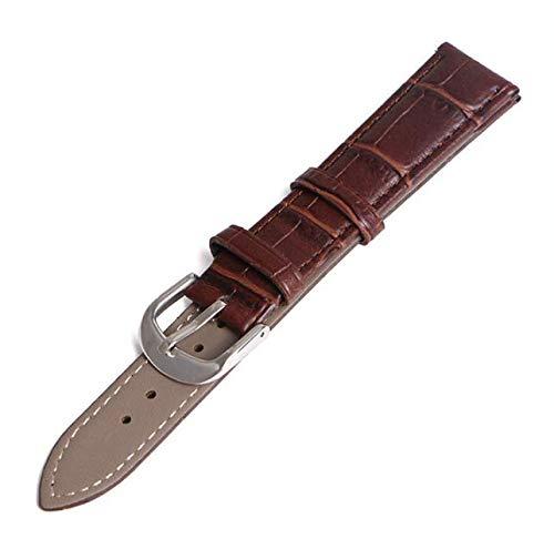 HANBIN fibbia orologio morbido Sostituzione cinturino orologio in pelle cinturino cinturino orologio fibbia brown 20mm