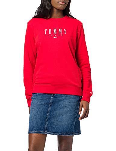 Tommy Jeans Damen TJW REGULAR ESSENTIAL LOGO Pullover, Deep Crimson, L