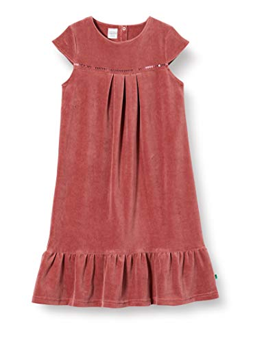 Fred's World by Green Cotton Velvet Dress Vestido para Niñas