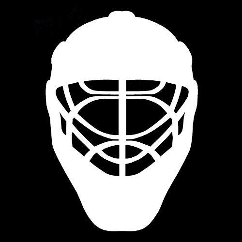LXLZN Autoaufkleber 2 Stücke Auf Jede Glatte Nicht Poröse Oberfläche Sonnenschutz Wasserdichter Auto Zubehör Eishockey Sport Helm Körper Auto Aufkleber Schwarz Silber 15,8 cm * 22,8 cm