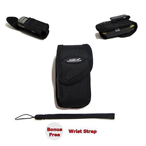 Magellan Clip Carrying Travel Case for Garmin eTrex 10 20 20x 20xt 22x 30 30x 32x / eTrex Touch 25 35 35t Handheld GPS + Free Bonus Wrist Strap - MGCC