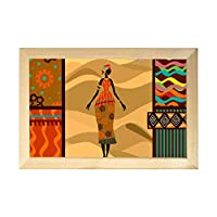 ホーム装飾ポスター 木製額縁 壁掛け アフリカの少女 民族調 木製フレーム フック付き 木製タグ ポスター 木製フォトフレーム 装飾画 壁飾り 壁ポスター インテリア絵画 アートパネル 部屋飾り 新築祝い 贈り物 プレゼント