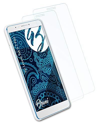 Bruni Schutzfolie kompatibel mit Lenovo Tab 3 7 Plus Folie, glasklare Bildschirmschutzfolie (2X)