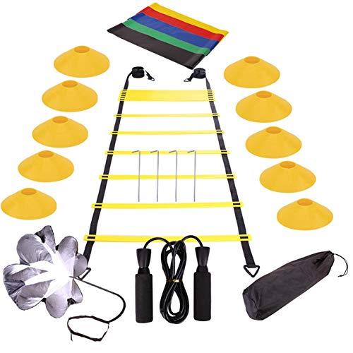 iBaste Koordinationsleiter Fussball Trainingszubehör Koordinationsleitern Für Fußball - Agility Ladder Speed Training Equipment Set Für Fußball Fußball