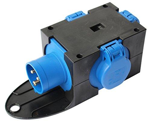 CEE Adapter Stromverteiler CEE 16A 230V - 3 x 230V Camping Verteiler