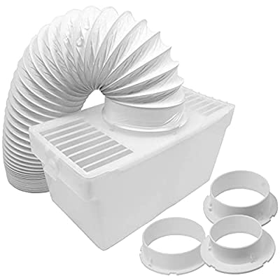 SPARES2GO Universal Vent Hose Condenser Kit with 3 x Adapters for Tumble Dryer (1.2m)