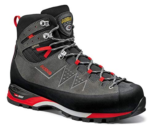 Asolo Traverse GV – Zapatillas de trekking para hombre, Graphite / Rosso,...