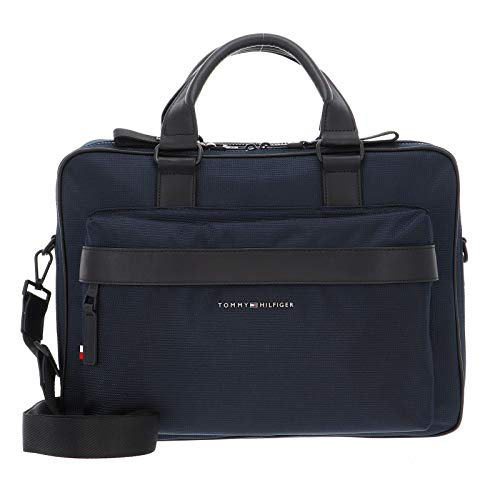 Tommy Hilfiger Elevated Nylon Workbag, Bolsas. para Hombre, Cielo del desierto, One Size