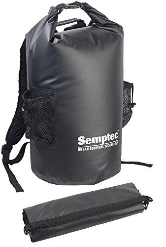 Semptec Urban Survival Technology Wasserdichter Packsack: Wasserdichter Trekking-Rucksack aus LKW-Plane, 40 Liter, schwarz, IPX6 (Sack)