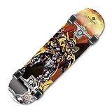 LW Skateboards para Adultos y niños Principiantes, 31 '' Skateboard Comes Complete 9 Ply Maple Wood Double Kick Pro...