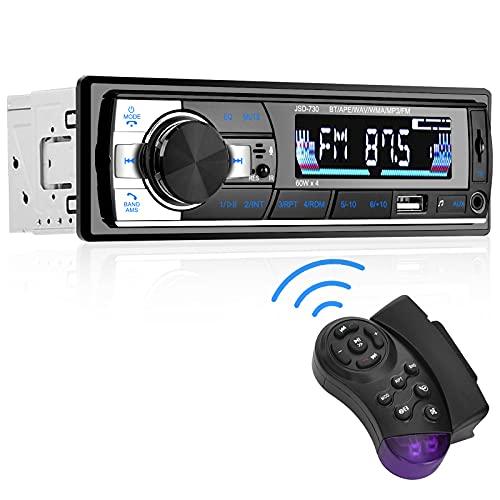 Aigoss Autoradio Bluetooth Stereo Auto Car Radio per Auto FM Ricevitore 60W x 4, Compreso il Telecomando, Supporta MP3/ USB/ SD/ TF/ AUX/ File