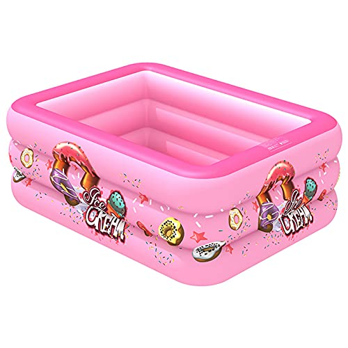 LVLIANG Inflatable Swimming Pool for Kids and Adults Family 78.9 in X51 in X 21.7 in It is The Best Water Play Facility for Family and Children in Summer Pink-18013055cm