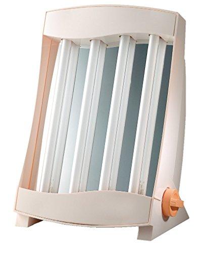 Efbe-Schott Gesichtssolarium mit 4 Röhren, 75 W, Inklusive 2 Schutzbrillen, Weiß, SC GB 834 N