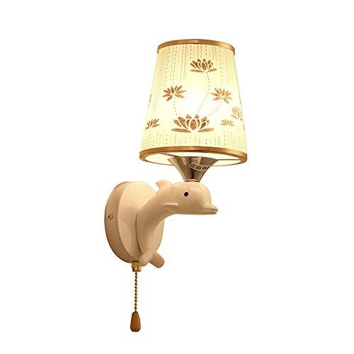 YU-K minimalistisch slaapkamer bedlampje muur stijlvolle woonkamer wanddim verkeerscorridor studie wandled muur hars met snoer schakelaar trap goud 20 * 10 cm